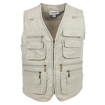 Big Size Fishing Vest With Many Pockets Men Sleeveless Jacket Waistcoat