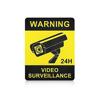 4 Pcs Warning Stickers Surveillance Security Camera Alarm Sticker Warning Tape