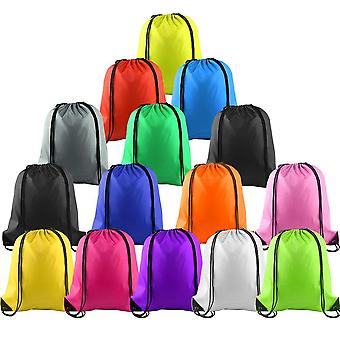 Multicolor Drawstring Backpack Bags Sports Cinch Sack String Backpack Storage