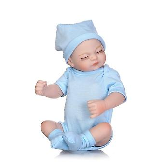 Real Looking Vinyl Silicone Realistic Closed Eye Baby Doll