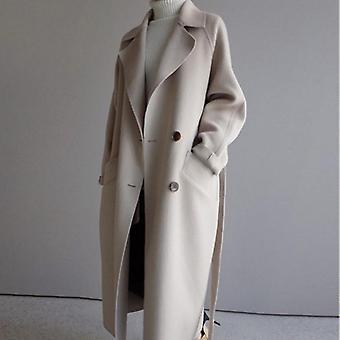 Wool Blend Women Long Coats, Vintage Overcoat Outwear