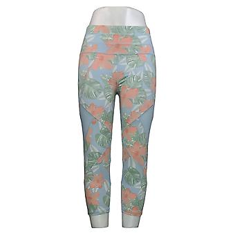 Tracy Anderson For G.I.L.I. Leggings Regular Printed Crop Blue A354969
