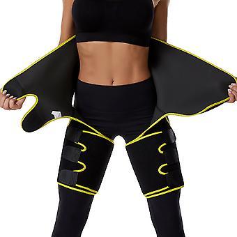 Waist Thigh Trainer for Women, Sweat Sauna Effect Body Shaper, Butt Lifter Thigh Trimmer