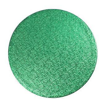 8&(203mm) Cake Board Round Green - singel