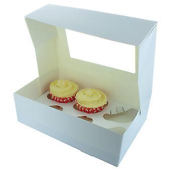 White 6 Cupcake/Muffin Box - sencillo