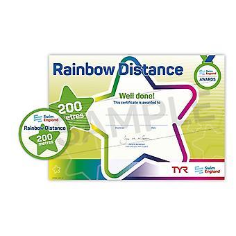ASA zwemmen Engeland Rainbow afstand zwemmen Award - 200M