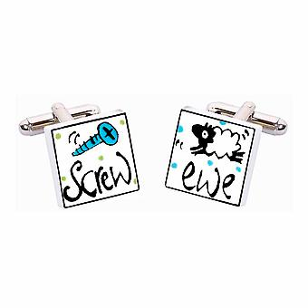 Screw Ewe Cufflinks par Sonia Spencer