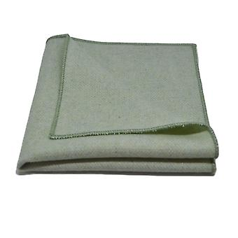 Corbata de espiga verde menta & Conjunto cuadrado de bolsillo