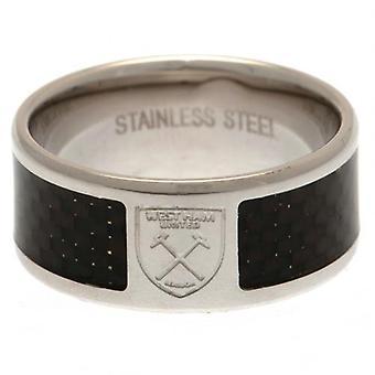 West Ham United Carbon Fibre Ring Medium