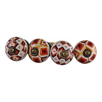 Set of 4 Kasbah Design Doorknobs