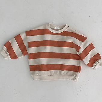 Striped Sweatshirt Long Sleeve Pullover Cotton Tops Toddler Infant Clothes