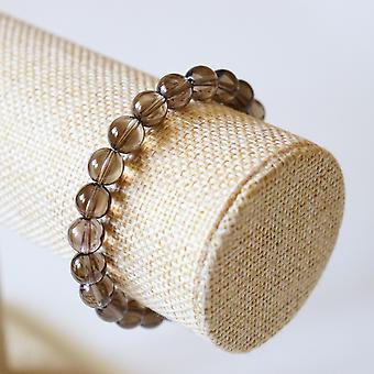 Bracelet En Quartz Fumé – Perles 8mm