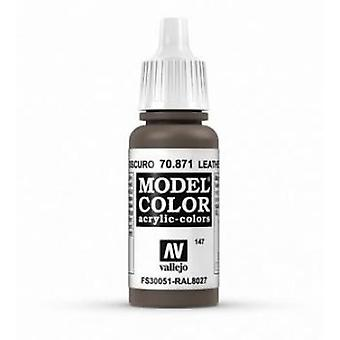 Vallejo Model Color 17ml Acrylic Paint - 871 Leather Brown