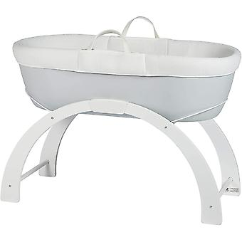 Shnuggle Dreami Moses Basket and Curve Rocking Stand - Pebble Grey