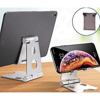 Aluminium justerbar fold holder tablet stå til Ipad Samsung Xiaomi Tablet