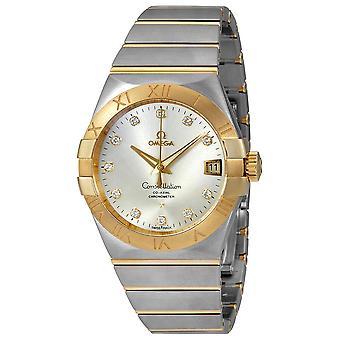 Omega Constellation Silver Diamond Dial Men's Watch 123.20.38.21.52.002