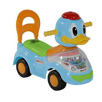 Suwak Lorelli, kaczka samochodowa dla dzieci z funkcją muzyczną, oparcie, od 18 miesięcy