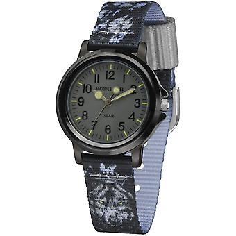 JACQUES FAREL Kids Wristwatch Analog Quartz Wolf Boys Textile Band KSB 783