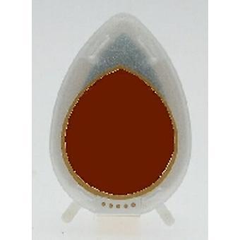 Almohadilla de tinta brillante caída de rocío - almohadilla de tinta de chocolate