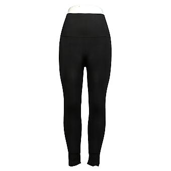 Breezies Leggings Seamless Tummy Smoothing Pull On Black A388306
