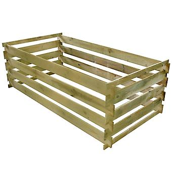 Slatted Compost Bin Impregnated Pinewood 160x80x58 Cm