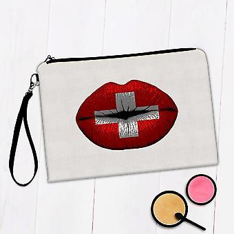 Sac de maquillage cadeau: Lips Swiss Flag Suisse
