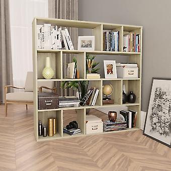 vidaXL Pièces détachées/Bibliothèques Sonoma-Chêne 110×24×110 cm Panneau de particules