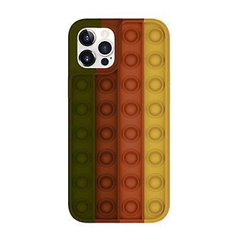 Lewinsky iPhone XS Max Pop It Case - Silikon bubbel leksak fall anti stress omslag