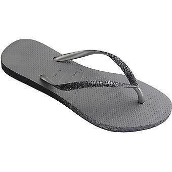 Havaianas Slim Sparkle II Flip Flops Grey 89