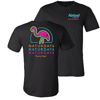 naturlig lys naturdays neon flamingo t-skjorte