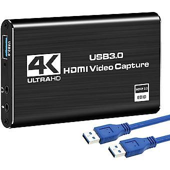 FengChun Game Capture Card, 4K-Audio-Videoaufnahmekarte, HDMI USB 3.0-Videoaufnahmegert, Full HD