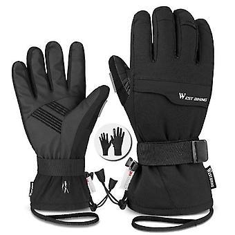 WEST ВЕЛОСИПЕД Двойной слой Толстые перчатки Лыжи Велоспорт Мотоциклы Спортивные перчатки 3M Водонепроницаемые и холодостойкие перчатки Зимние перчатки для мужчин и женщин Сенсорные перчатки с экраном