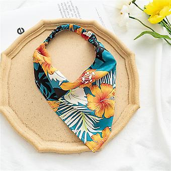 Women's scarf hair band triangular binder
