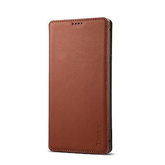 Genuine leather wallet case card slot for iphonex/xs5.8 brown no3488