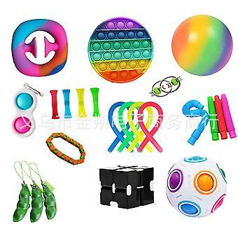 Sensorische Fidget Toys Set Bubble Pop Stress Relief voor kinderen Volwassenen Z410