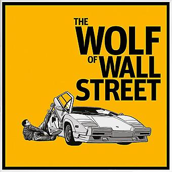 JUNIQE Print - The Wolf of Wall Street - Movies Poster in Yellow & Black