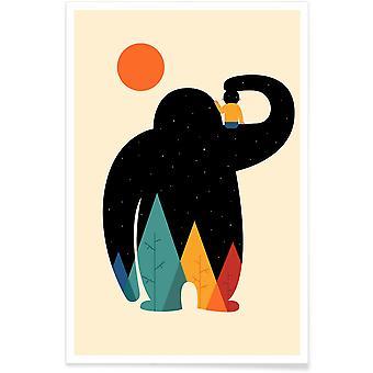 JUNIQE Print - Pa Pa - Barnkammare och konst för barn Affisch i Färgglada & Cream White