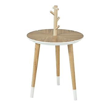 Mesa-redonda de SoBuy sofá de madeira com porta-copos, FBT38-WN