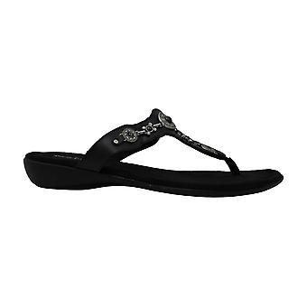 Minnetonka Ratan Thong Women's Sandal 12 C/D US Black
