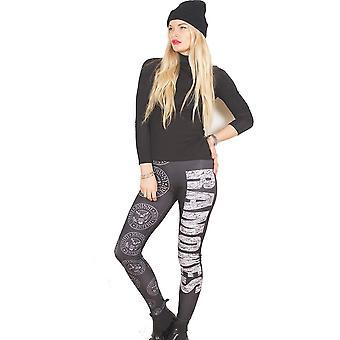 Ramones - Presidential Seal Ladies Medium-Large Fashion Leggings - Black,White