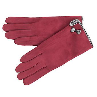 Ladies Soft Micro Suede Cold Weather Gloves