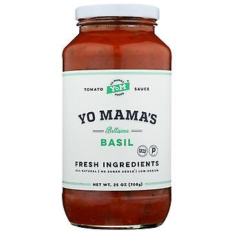 Yo Mamas Foods Sauce Tomato Basil, Case of 6 X 25 Oz