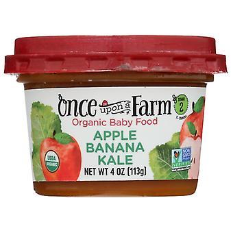 Il était une fois une ferme Nourriture pour bébé Apl Bana Kale, cas de 8 X 4 Oz