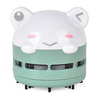 draagbare desktop stofzuiger, automatische desktop schoner, USB nachtlampje (groen)