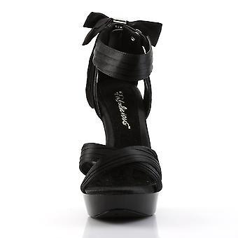 Fabulicious Women's Shoes COCKTAIL-568 Blk Satin/Blk