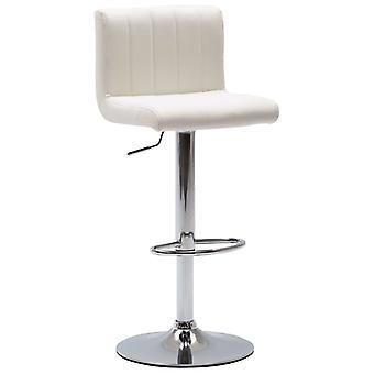 vidaXL Барный стул Белая синтетическая кожа