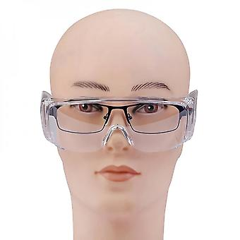 Evago 2pcs Transparent Safety Goggles Splash Resistant Lens, Over-glasses With Soft Nose Piece, Light Weight And Comfortable To Wear