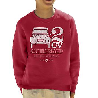 Citroen 2CV Auktoriserad reparationstjänst Vit Logotyp Barns sweatshirt