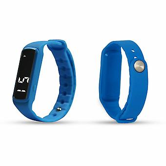 Aquarius AQ 114 Teen Fitness Activity 3D Pedômetro LED Tracker - Azul