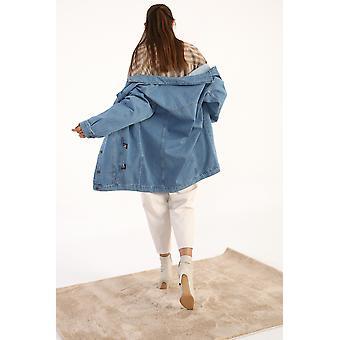 Flap Pocket Oversize Denim Jacket